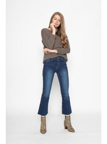 """Just Cashmere Kaszmirowy sweter """"Rebecca"""" w kolorze szarobrązowym"""