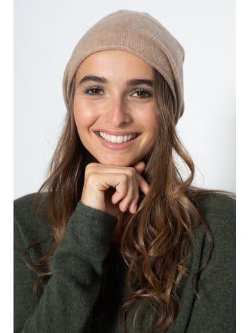"""Just Cashmere Kaszmirowa czapka """"Lauren"""" w kolorze karmelowym"""