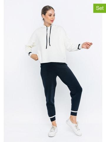 GIORGIO DI MARE 2-delige outfit wit/donkerblauw