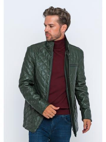 GIORGIO DI MARE Skórzana kurtka w kolorze zielonym