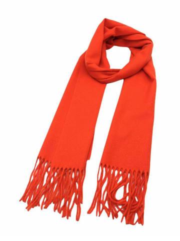 INKA BRAND Szal w kolorze pomarańczowym - (D)186 x (S)34 cm