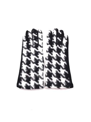 INKA BRAND Rękawiczki w kolorze czarno-białym