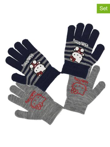 "Hello Kitty 2-delige set: handschoenen ""Hello Kitty"" grijs/donkerblauw"