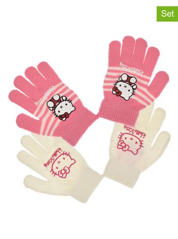 """Hello Kitty 2-delige set: handschoenen """"Hello Kitty"""" lichtroze/wit"""