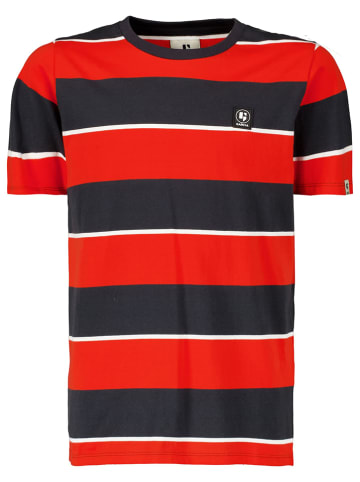 Garcia Shirt rood/antraciet/donkerblauw
