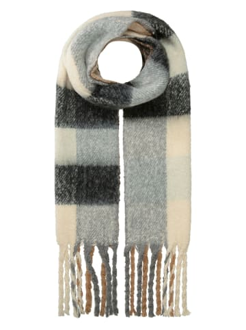 Marc O'Polo Junior Wełniany szal w kolorze beżowo-szaro-antracytowym - 205 x 34 cm