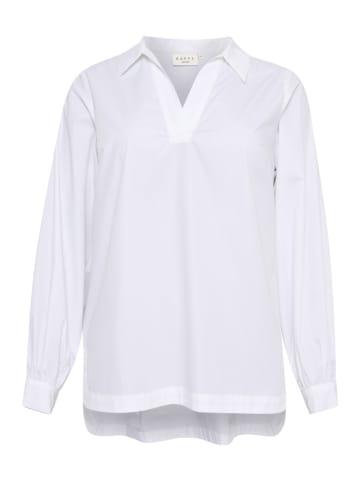 KAFFE curve Bluzka w kolorze białym