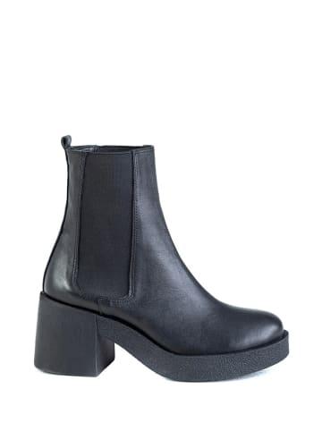 Musk Leder-Chelsea-Boots in Schwarz