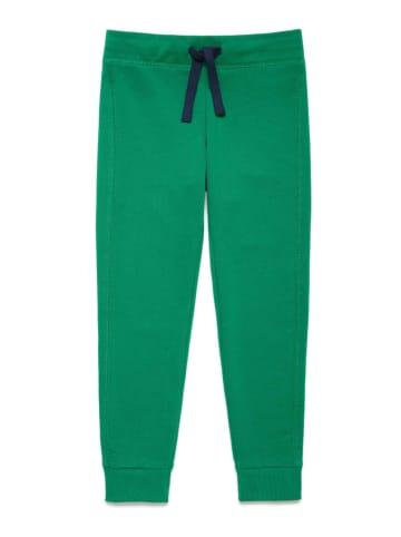 Benetton Spodnie dresowe w kolorze zielonym