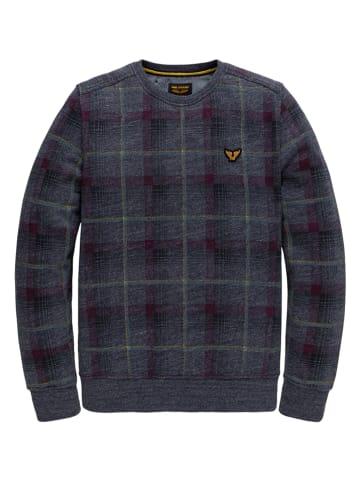 PME Legend Sweatshirt in Dunkelblau/ Bordeaux