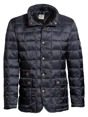 "MGO leisure wear Doorgestikte jas ""Ramsay"" donkerblauw"