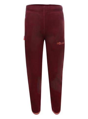 """Trollkids Spodnie polarowe """"Troll"""" w kolorze czerwonym"""