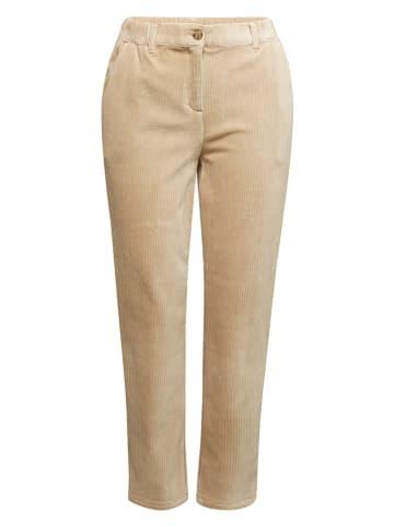 ESPRIT Spodnie sztruksowe w kolorze beżowym
