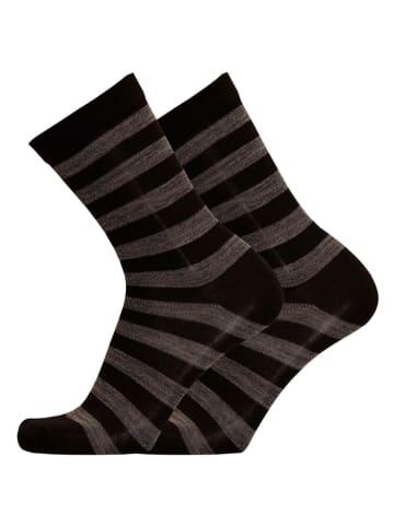 Uphill Socken in Schwarz/ Grau
