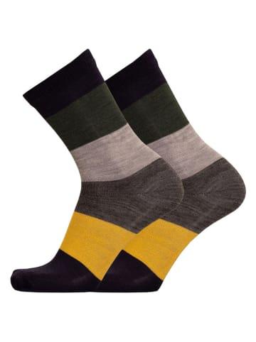 Uphill Socken in Grau/ Gelb/ Schwarz