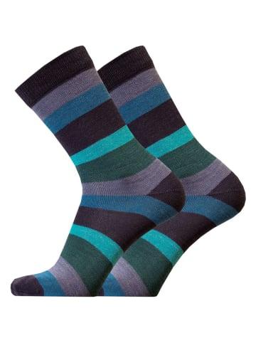 Uphill Socken in Blau