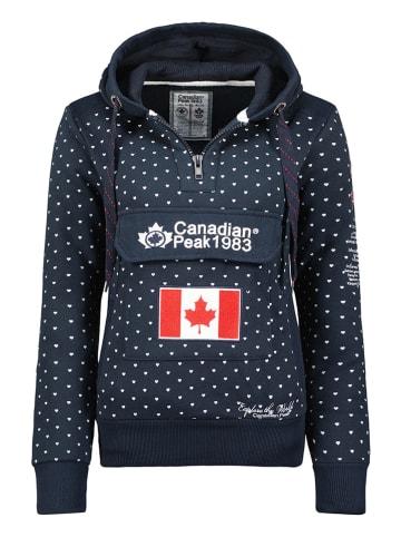 """Canadian Peak Hoodie """"Gyrelle"""" in Schwarz"""