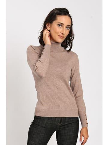 C& Jo Sweter w kolorze beżowym