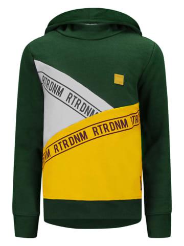 """Retour Sweatshirt """"Isak"""" donkergroen/geel/crème"""