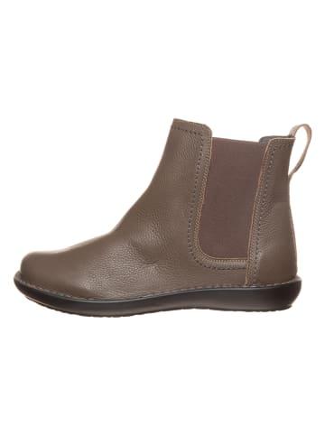 CAMINA by Kmins Leder-Chelsea-Boots in Khaki