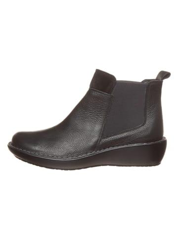 CAMINA by Kmins Leder-Chelsea-Boots in Schwarz