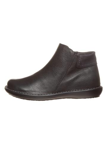 CAMINA by Kmins Leder-Ankle-Boots in Schwarz
