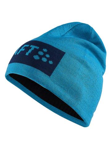 """Craft Czapka-beanie """"Core Square"""" w kolorze niebieskim"""