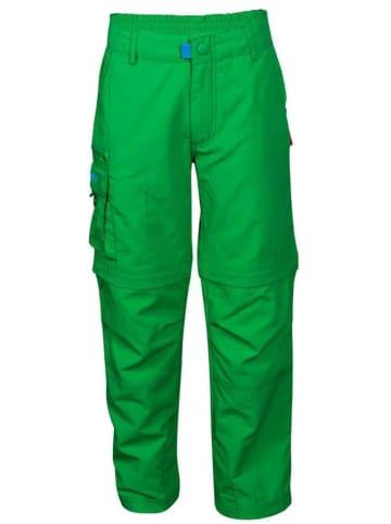 """Trollkids Zipp-Off-Trekkinghose """"Oppland"""" - Regular fit - in Grün"""
