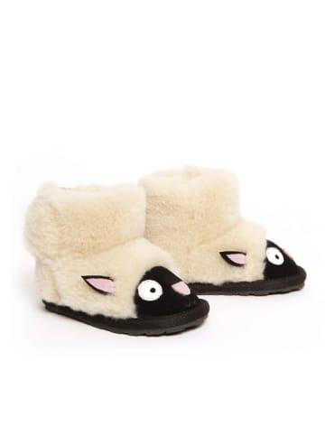 """EMU Leren winterboots """"Lamb Walker"""" wit/zwart"""