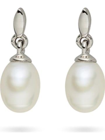 Nova Pearls Copenhagen Kolczyki-wkrętki z perłami w kolorze białym