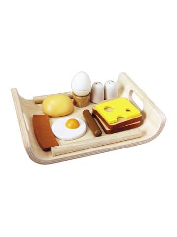 Plan Toys Zestaw drewnianych akcesoriów na śniadanie - 11 el. - 3+