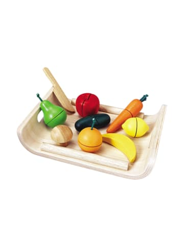 Plan Toys Zestaw drewnianych warzyw i owoców