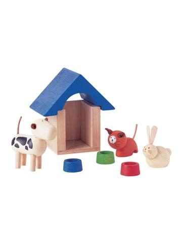 Plan Toys Drewniane zwierzątka domowe z akcesoriami