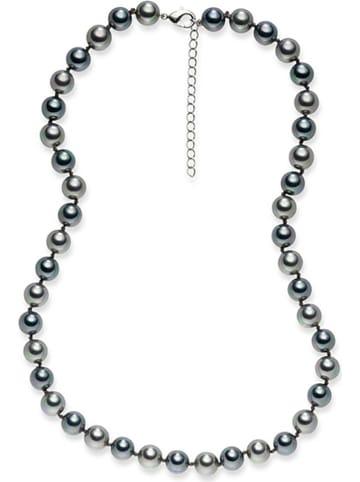 Pearls of London Perłowy naszyjnik w kolorze srebrnoszarym - dł. 43 cm