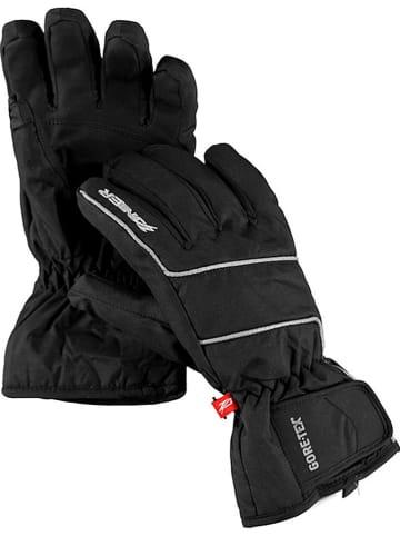 Zanier Młodzieżowe rękawice narciarskie ''Astro.ZX'' w kolorze czarno-srebrnym