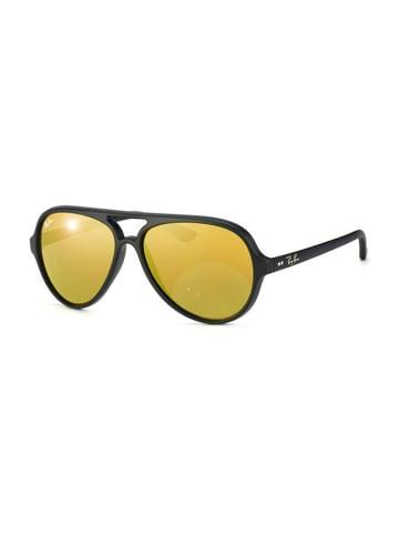 Ray Ban Unisex-zonnebril ''Cats'' zwart/bruin-goud