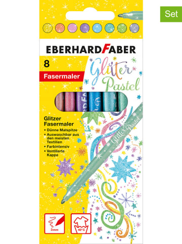 "Eberhard Faber 2er-Set: Glitter-Fasermaler ""Pastell"" - 2x 8 Stück"