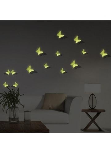 """Ambiance 3D-Wanddeko """"Glow in the Dark - Schmetterlinge"""""""