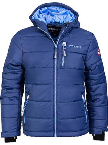 """Trollkids Kurtka narciarska """"Hemsedal"""" w kolorze granatowo-błękitnym"""