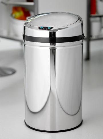 Steel-Function Bezdotykowy kosz w kolorze srebrnym na śmieci - 30 l