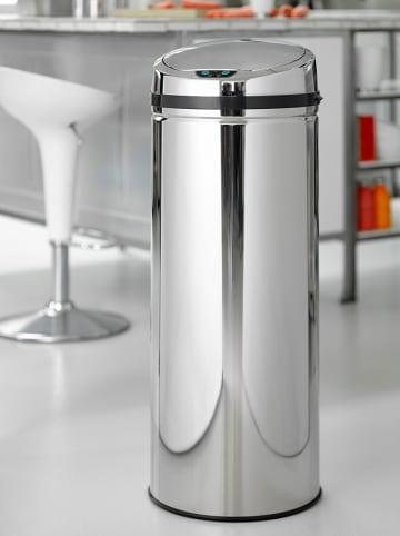Steel-Function Bezdotykowy kosz w kolorze srebrnym na śmieci - 50 l
