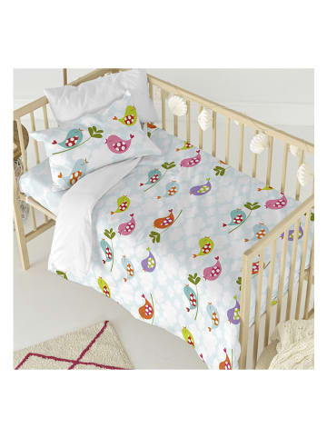 """Mr. Fox Komplet pościeli """"Little Birds"""" w kolorze białym ze wzorem"""