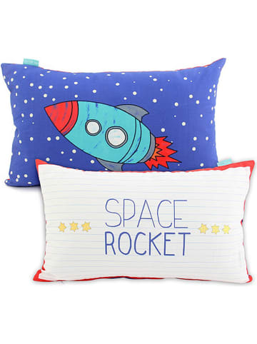 """Mr. Fox Poszewka """"Space Rocket"""" w kolorze granatowo-biało-czerwonym na poduszkę"""
