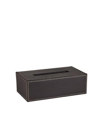 Andrea House Pojemnik w kolorze czarnym na chusteczki - (S)26 x (W)9 x (G)15 cm