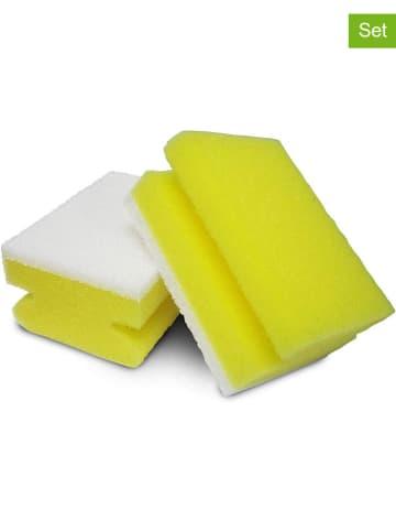 """Spontex 5-delige set: reiningingssponzen """"Kalk Star"""" geel/lichtblauw - 5x 2 stuks"""