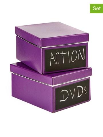 """STORE IT 2-delige set: DVD-dozen """"Emelie"""" paars"""