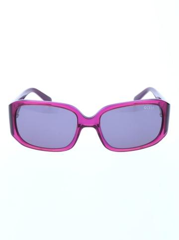 Guess Damskie okulary przeciwsłoneczne w kolorze fioletowo-niebieskim