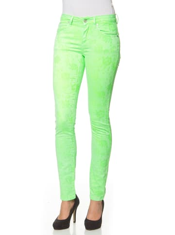 "Million X Broek ""Jacquard"" neongroen"
