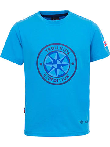 """Trollkids Functioneel shirt """"Windrose"""" lichtblauw/blauw"""
