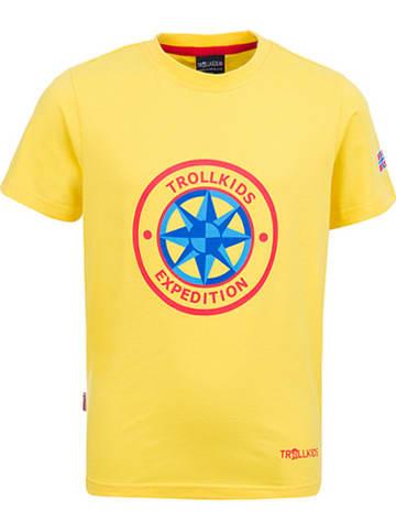 "Trollkids Functioneel shirt ""Windrose"" geel/meerkleurig"